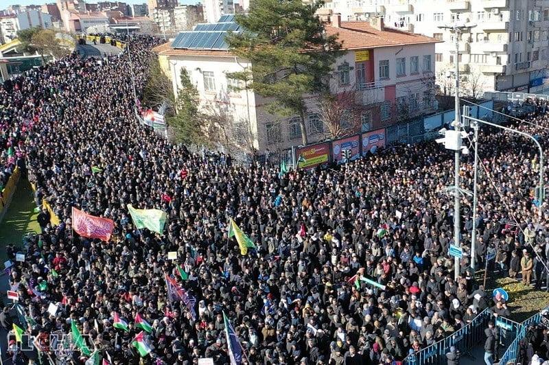 Diyarbakır'da Kudüs mitinginden ortak mesaj: Müslümanlar birlik olmalıdır