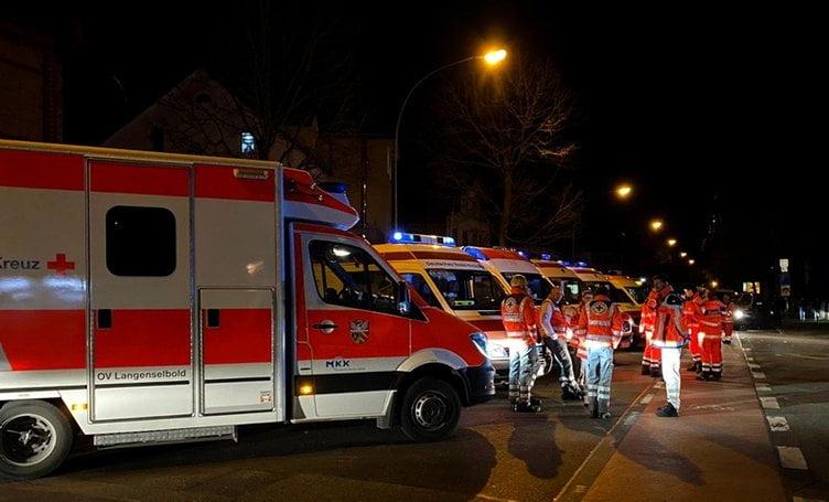 Almanya'da silahlı saldırı: 11 ölü, 8 yaralı.!