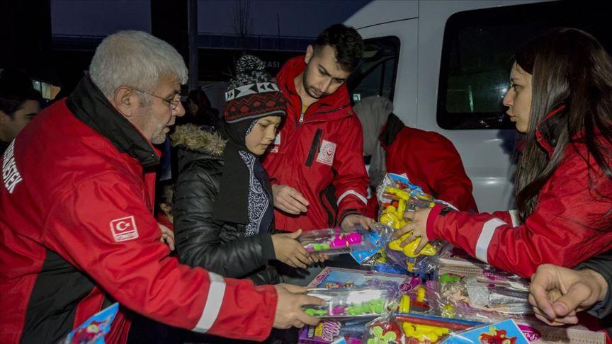 Mardin'den Depremzede çocuklara oyuncak gönderildi