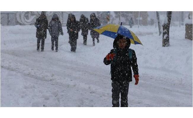Kar yağışı nedeniyle 8 ilde eğitime ara verildi
