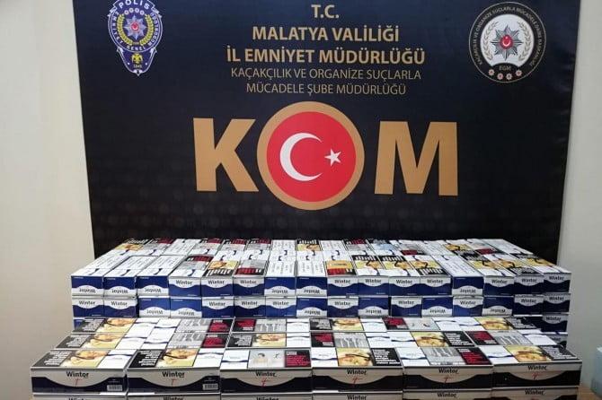 Malatya'da 43 bin gümrük kaçağı makaron ele geçirildi