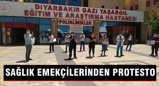 Sağlık emekçilerinden protesto