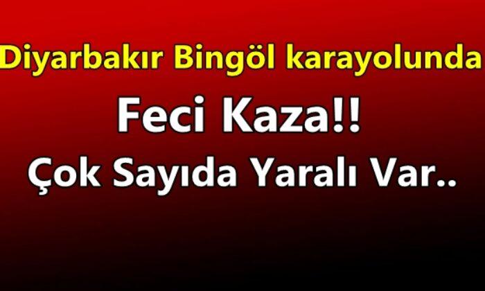 Diyarbakır-Bingöl karayolunda feci kaza: Çok sayıda yaralı var!